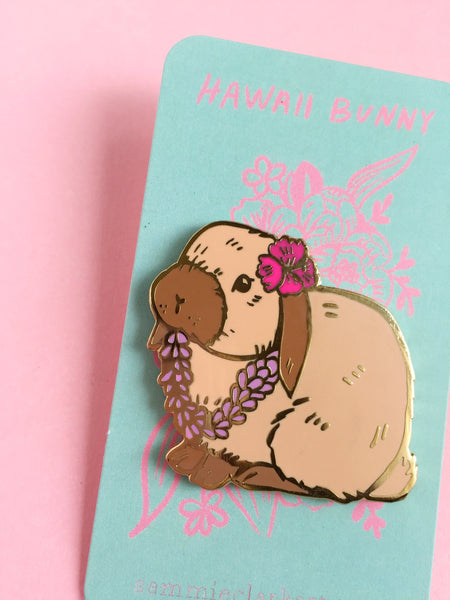 *Seconds Sale* Hawaii Bunny Pin