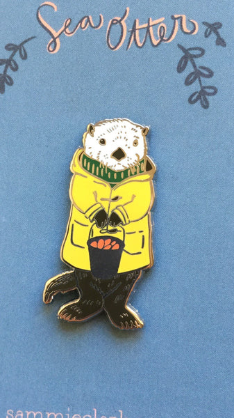*Seconds Sale* near perfect Charles the Sea Otter Pin