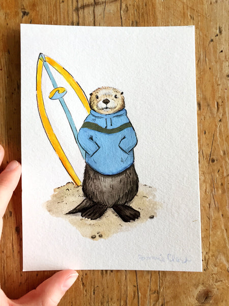 Sea Otter Original Painting