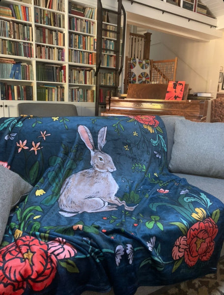 Botanical Hare Blanket