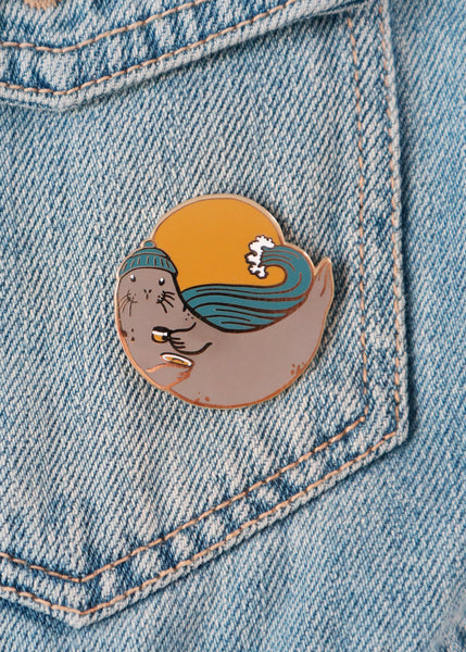 Harbor Seal Pin