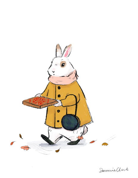 Fall Pizza Bunny