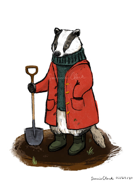 Mr. Badger Limited Edition Print