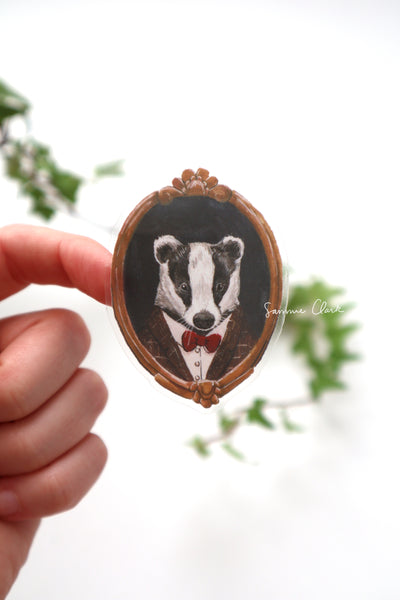 Badger Portrait Sticker