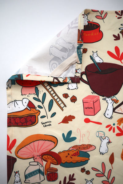 Baking Bunnies- Linen/Canvas Tea Towel