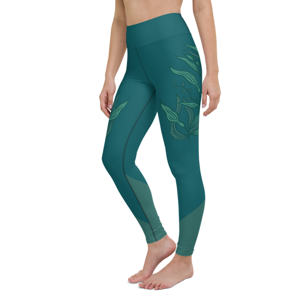 Blue Kelp Yoga Leggings