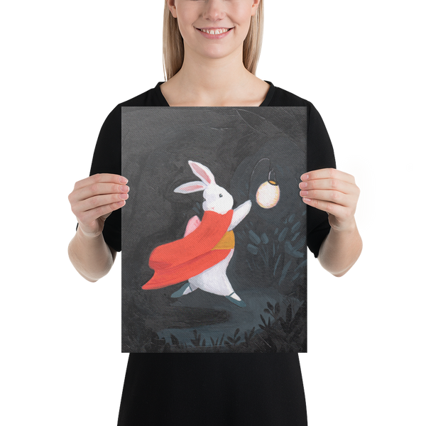 Lantern Bunny Canvas
