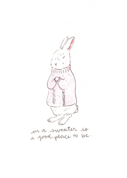 Bunny in Sweater print