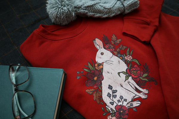 Snowshoe Hare Cropped Sweatshirt (3 colors)