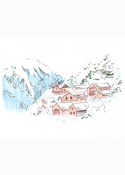Mountainside Village Print
