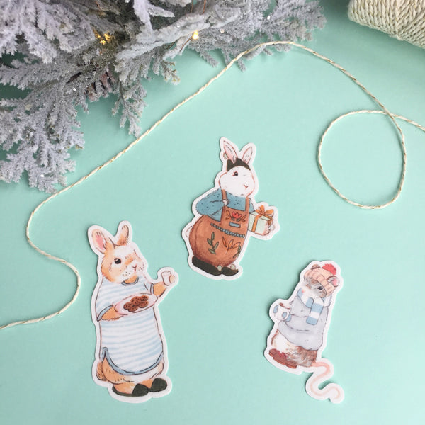 Winter Mouse Sticker
