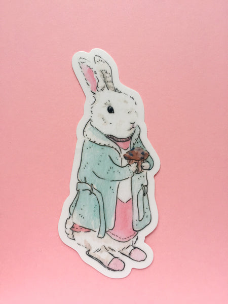 Mrs. Morning Bun Sticker