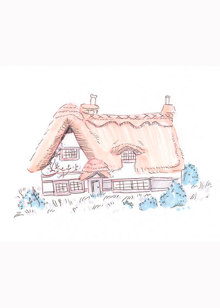 Morning Glory Cottage Print