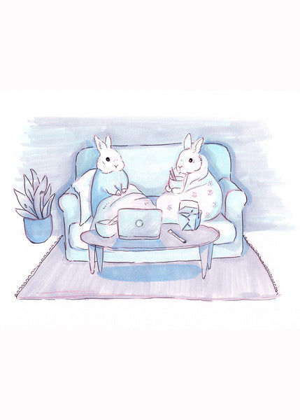 Binge-watching Bunnies