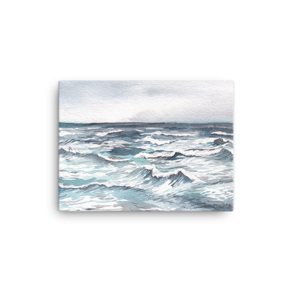 Silver Sea Ocean Canvas Print