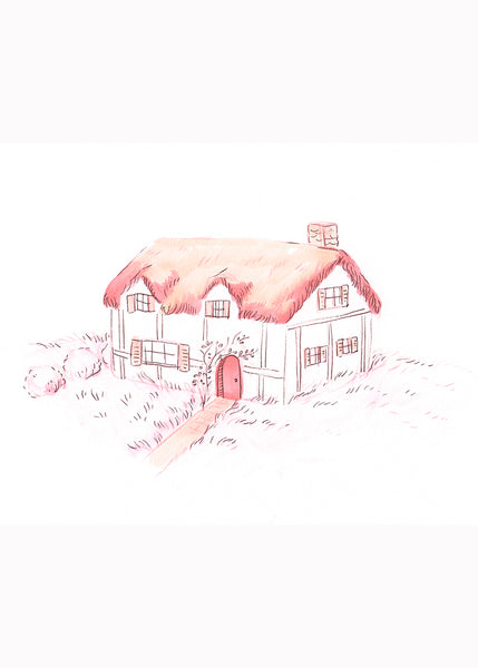 Peach Cottage Print