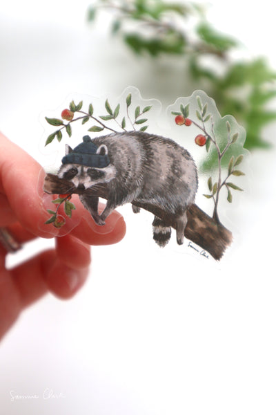 Sleepy Raccoon Sticker