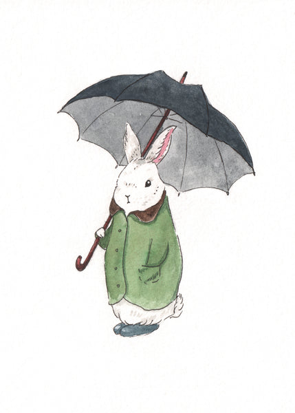 Mr. Tibbles Rainy Day Bun Print