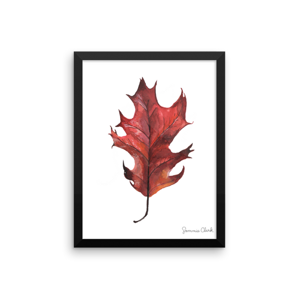 Red Oak Leaf Print