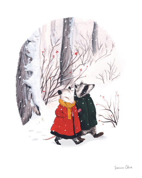 Lucy & Rupert Walk in the Snow