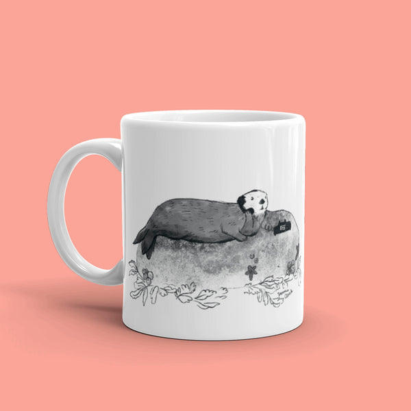Sea Otter on Phone Mug