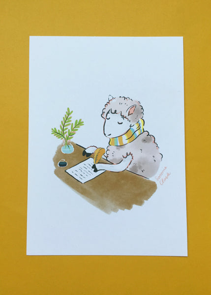 Writing Sheep Limited Edition Print