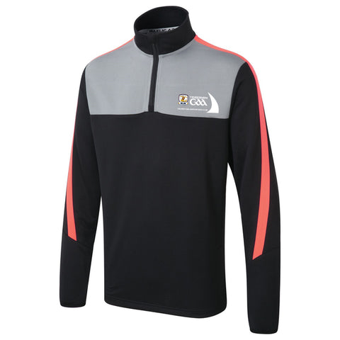 Supporters Club 1/4 Zip Black/Coral