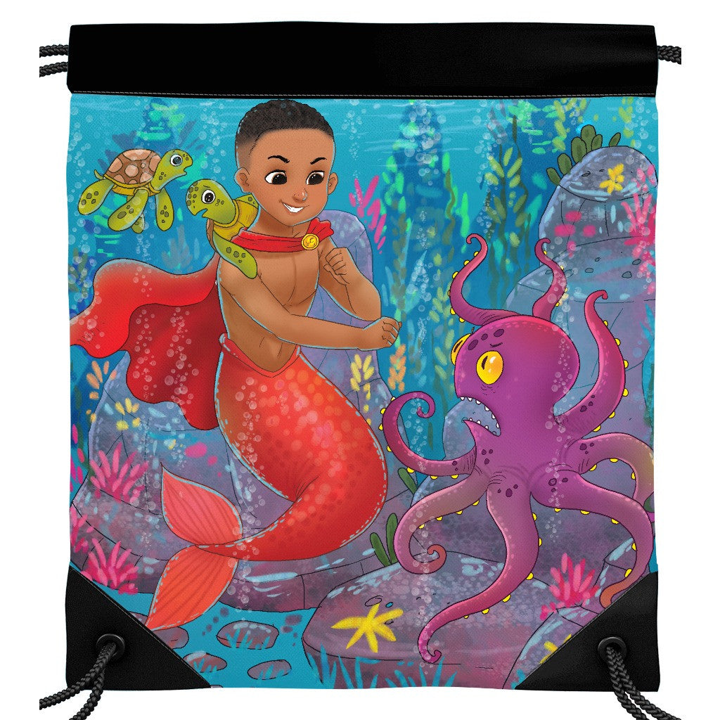 Qadir the Mermaid Drawstring Bag