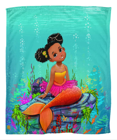 Ariya the Mermaid Fleece Blanket