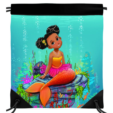 Ariya the Mermaid Drawstring Bag