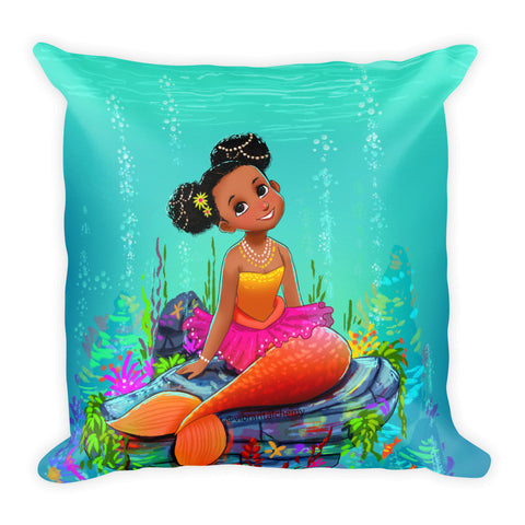 Ariya the Mermaid Square Pillow