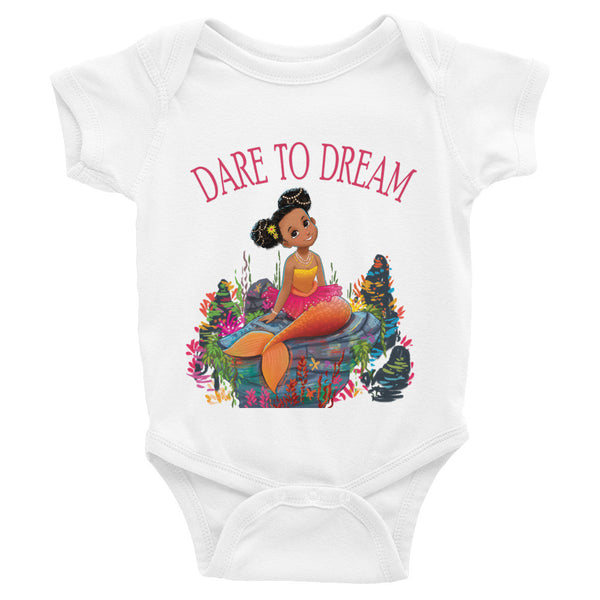 """Dare to Dream"" Infant short sleeve one-piece"