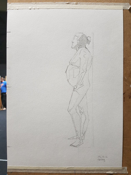 Life Drawing_Long Pose 01_WIP_20161010,11,12,13