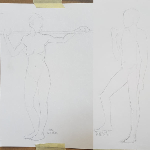 Life Drawing_Short Poses_20170508_t03w04