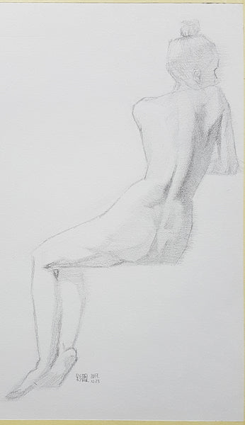 life drawing_sitting pose_back pose