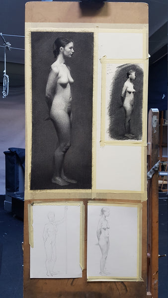 longpose life drawing final version with value study