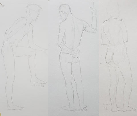 standing males life drawing