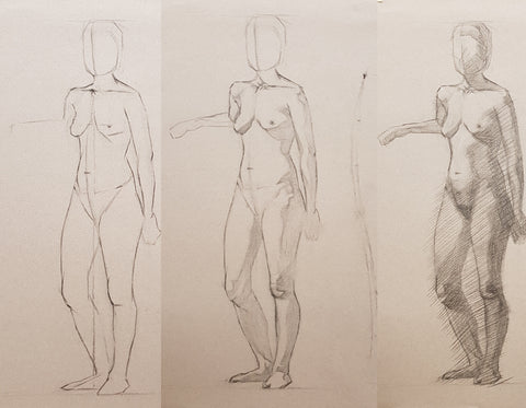 longpose construction drawing practice turning the big form