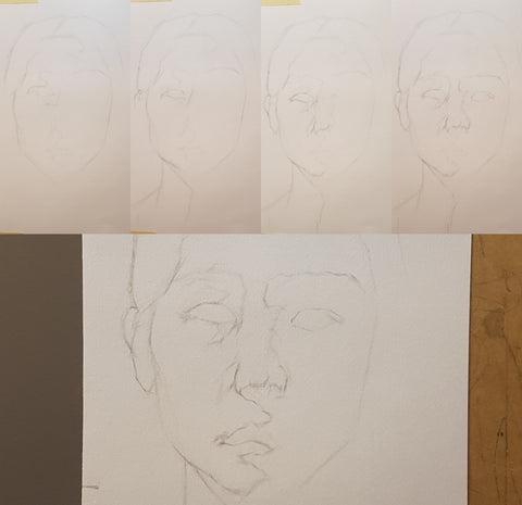 my first self portrait steps