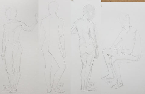 short posese standing male nude 2 hours