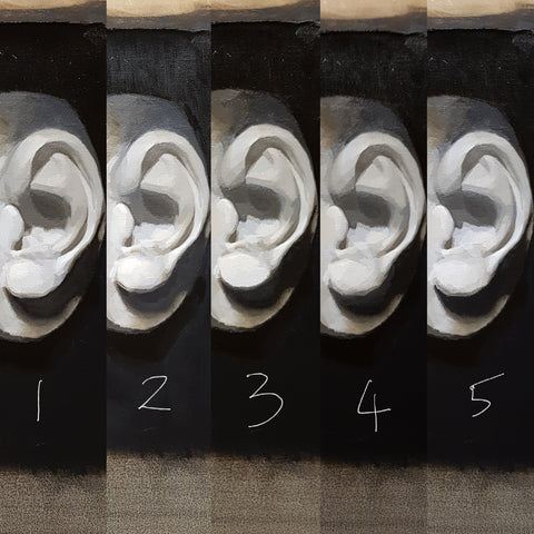 ear cast steps 1-5