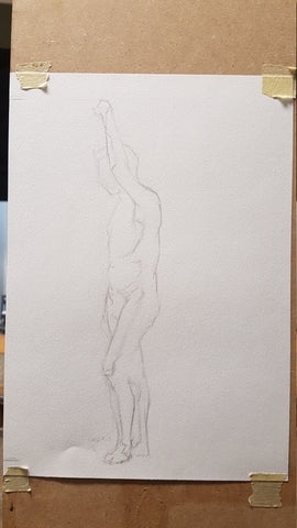 standing male life drawing