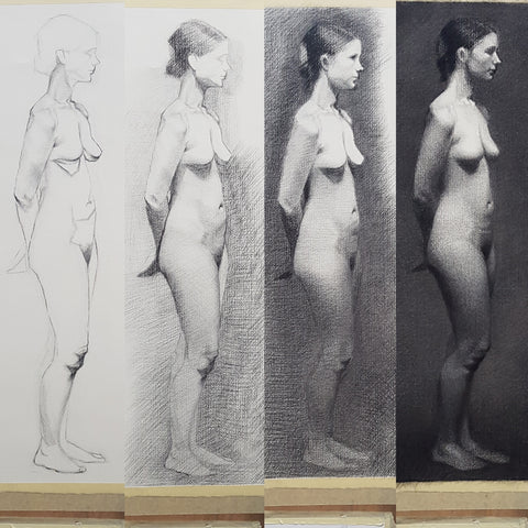 longpose life drawing in progress_ in stages part 02
