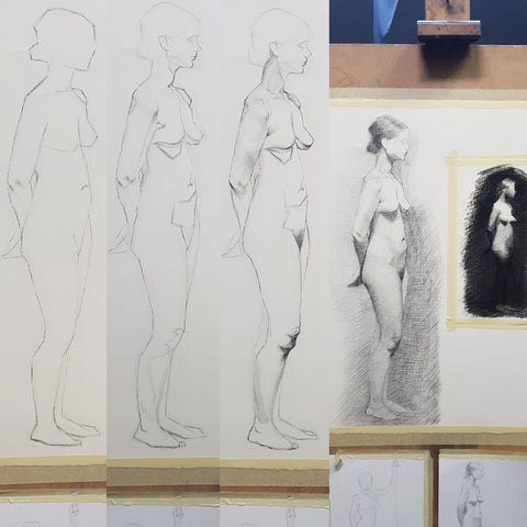 longpose life drawing in progress_ in stages part 01