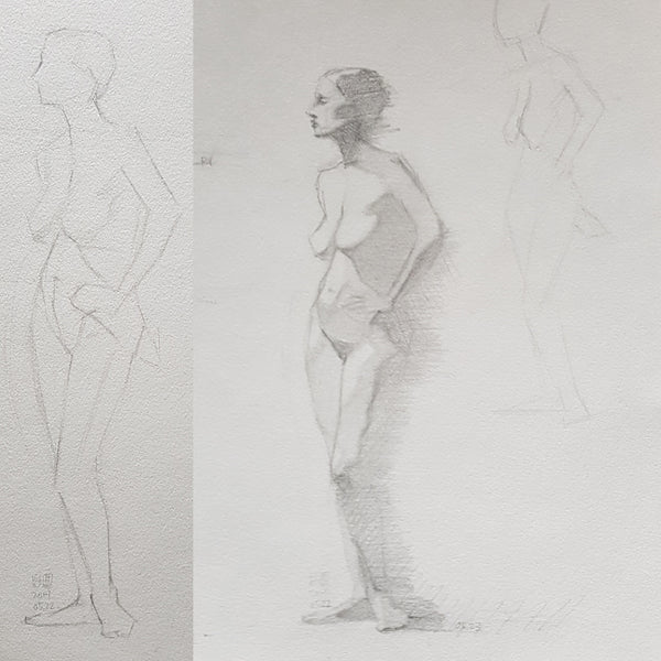 long pose study first week