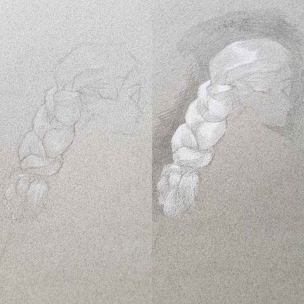 drapery and hair study