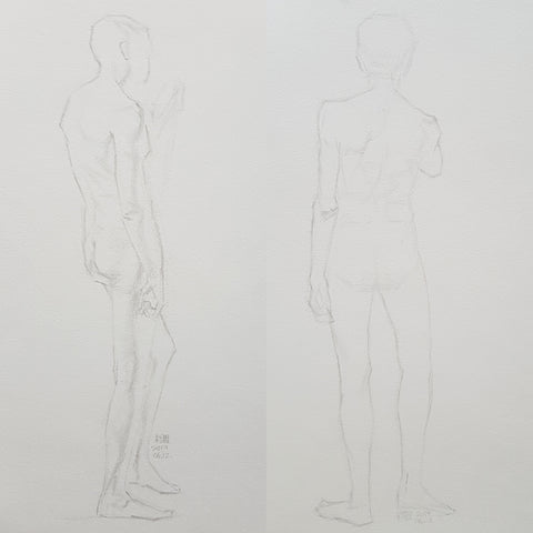 shortpose_life drawing_standing male_backs