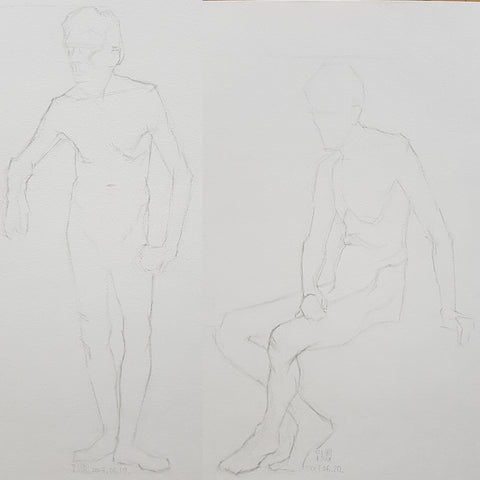 shortposes_life drawing front_standing and sitting male