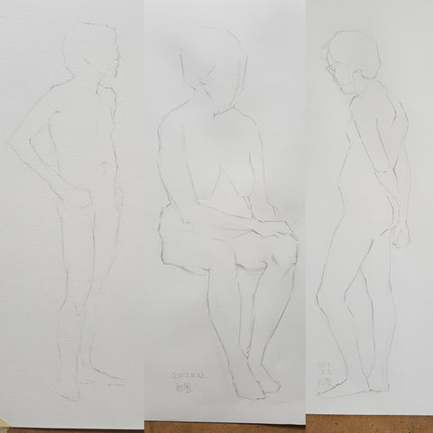 life drawing short poses trimester4 week 01