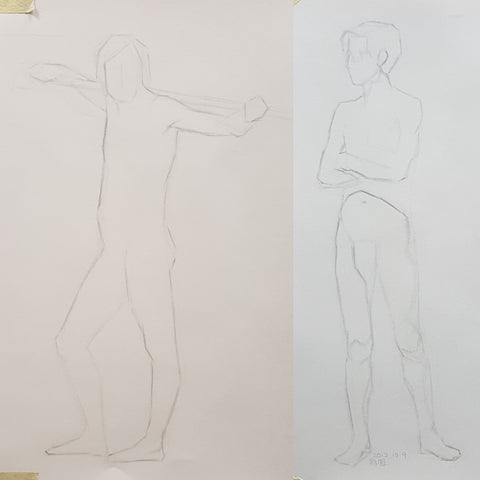life drawing short poses